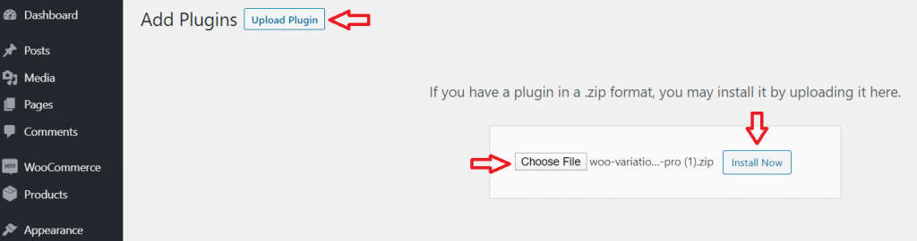 upload manually to install wordpress plugin