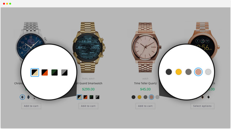 rounded or squared shape for WooCommerce Variation Swatches