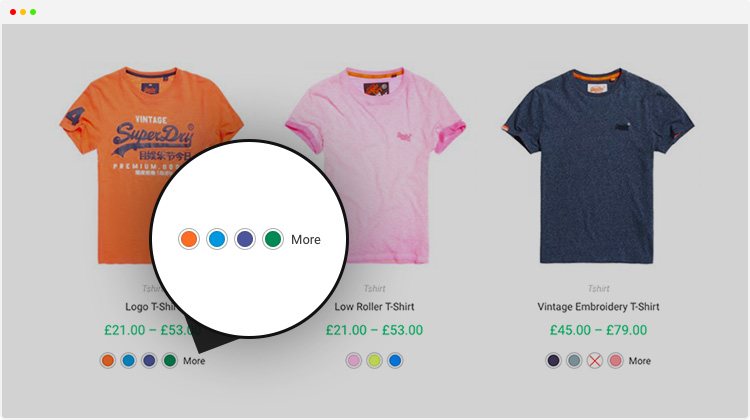 set more link to align WooCommerce Variation Swatches