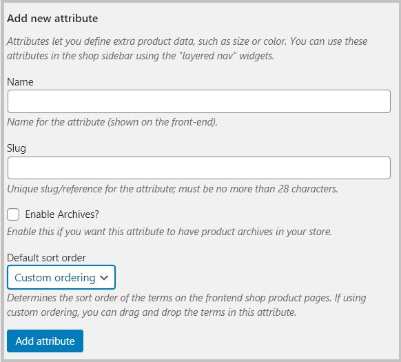 default attribute