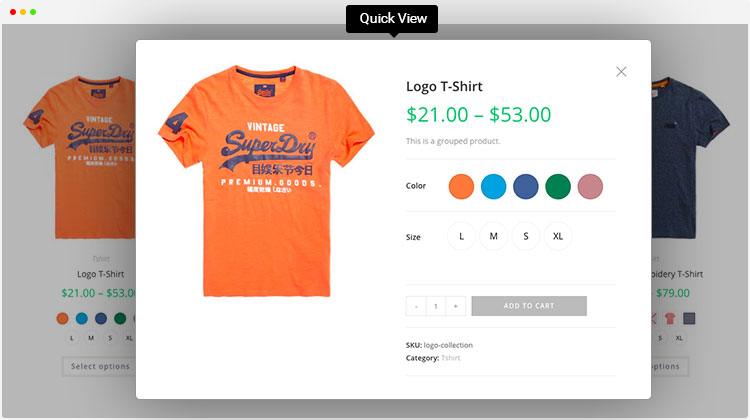 WooCommerce variation swatches supported quick view
