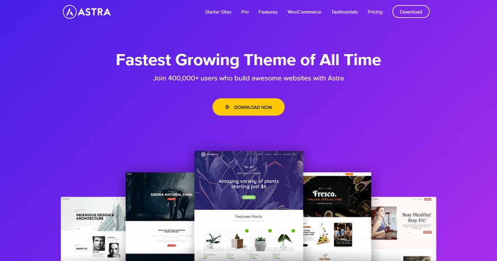 astra wordpress theme