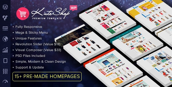 kuteshop woocommerce theme