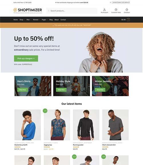 shoptimizer wooCommerce theme