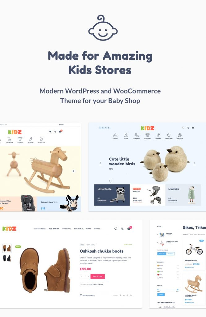 kids wordpress woocommerce theme