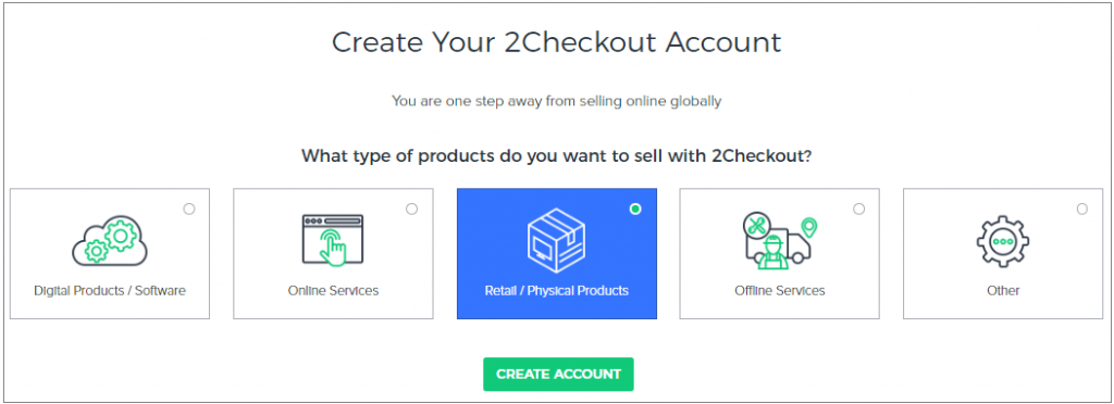 create 2checkout account