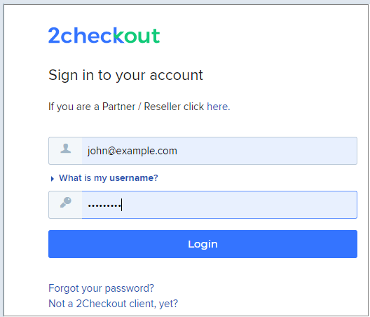 sign in for 2 checkout
